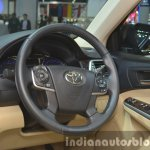 Toyota Camry facelift steering wheel at the 2015 Bangkok Motor Show