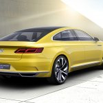 VW Sport Coupe Concept GTE rear three quarters
