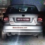 VW Vento facelift rear for India spotted on test