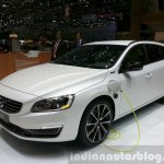 Volvo V60 D5 plug-in hybrid special edition front three quarter right at the 2015 Geneva Motor Show