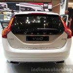 Volvo V60 D5 plug-in hybrid special edition rear at the 2015 Geneva Motor Show