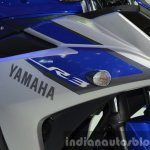 Yamaha YZF-R3 badges at 2015 Bangkok Motor Show