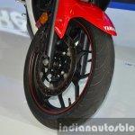Yamaha YZF-R3 front wheel at 2015 Bangkok Motor Show