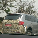 2015 Ford Endeavour rear India spied