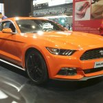 2015 Ford Mustang Coupe front three quarter left at the 2015 Seoul Motor Show