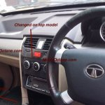 2015 Tata Safari Storme (facelift) dashboard spyshot