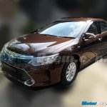 2015 Toyota Camry facelift front quarter India spied