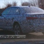 2016 Audi A4 rear three quarter left test mule spotted