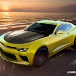 2016 Chevrolet Camaro front quarter rendering