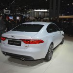2016 Jaguar XF rear three quarter at the 2015 New York Auto Show
