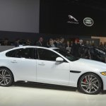 2016 Jaguar XF side at the 2015 New York Auto Show