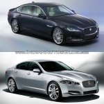 2016 Jaguar XF vs 2012 Jaguar XF front three quarter