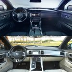 2016 Jaguar XF vs 2012 Jaguar XF interior