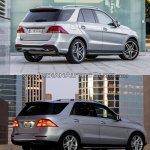 2016 Mercedes GLE Class vs 2012 Mercedes M Class rear quarter