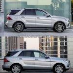 2016 Mercedes GLE Class vs 2012 Mercedes M Class side