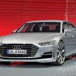 2018 Audi A8 front rendering Auto Bild magazine