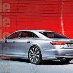 2018 Audi A8 rear rendering Auto Bild magazine