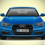 Audi A4 2016 rendering front from IAB