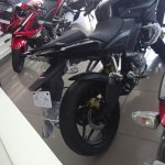 Bajaj Pulsar 200AS rear wheel at dealership