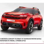 Citroen Aircross concept official image front quarter