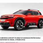Citroen Aircross concept official image front three quarter