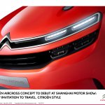 Citroen Aircross concept official image headlamps