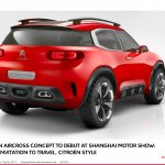 Citroen Aircross concept official image rear quarter