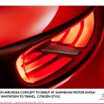 Citroen Aircross concept official image taillights