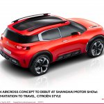Citroen Aircross concept official image top rear view