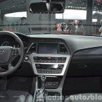 Hyundai Sonata Hybrid dashboard at Auto Shanghai 2015