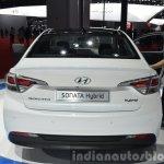 Hyundai Sonata Hybrid rear at Auto Shanghai 2015
