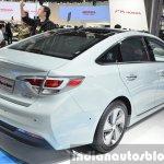 Hyundai Sonata Plug-in Hybrid rear three quarter right at Auto Shanghai 2015