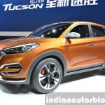 Hyundai Tucson front three quarter at Auto Shanghai 2015
