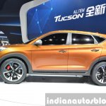 Hyundai Tucson side at Auto Shanghai 2015