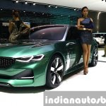 Kia Novo Concept front quarter at the Seoul Motor Show 2015