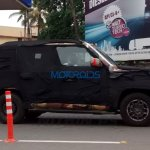 Mahindra U301 side spied testing