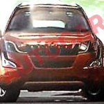 Mahindra XUV500 facelift front leaked