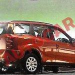 Mahindra XUV500 facelift rear leaked