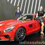Mercedes AMG GT front quarter at the Seoul Motor Show 2015