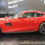 Mercedes AMG GT side at the Seoul Motor Show 2015