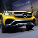 Mercedes Concept GLC Coupe front in Shanghai
