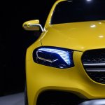 Mercedes Concept GLC Coupe headlamp in Shanghai