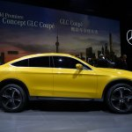 Mercedes Concept GLC Coupe side in Shanghai