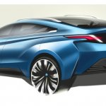 Nissan Venucia four-door coupe concept rear Auto Shanghai 2015