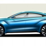Nissan Venucia four-door coupe concept side Auto Shanghai 2015