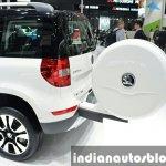 Skoda Yeti LWB rear spare wheel at Auto Shanghai 2015