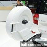 Skoda Yeti LWB spare wheel at Auto Shanghai 2015