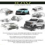 Ssangyong XAV Concept sketches