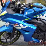 Suzuki Gixxer SF spied at showroom