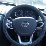 Tata Safari Storme facelift steering spied